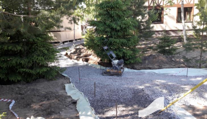 Подготовка основания для мощение природным камнем