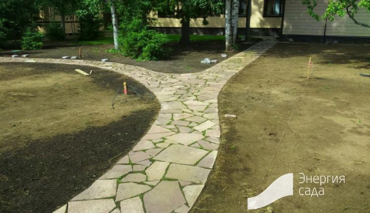 Проектирование дорожек в саду