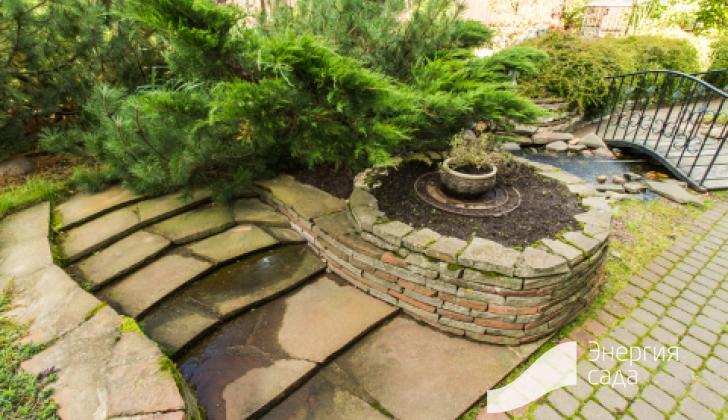 Лестницы и подпорные стенки из натурального каменя