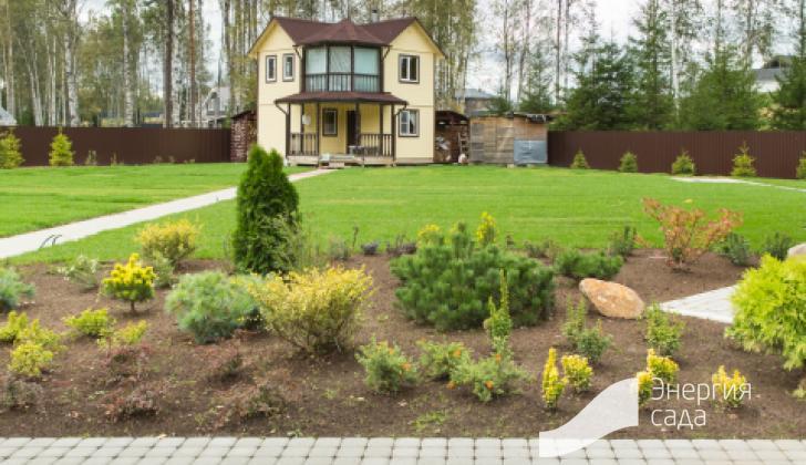 Ландшафтный дизайн сада.
